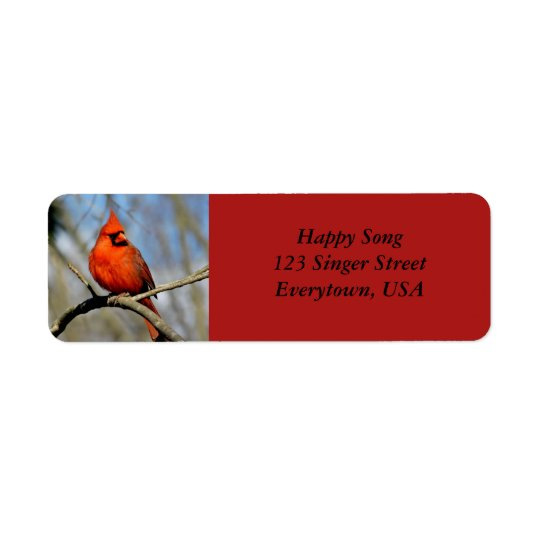 Bright Cardinal Adress Labels