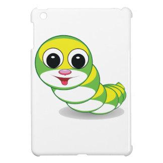 bright caterpillar worm iPad mini cases