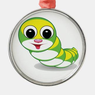bright caterpillar worm metal ornament