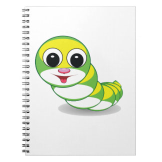 bright caterpillar worm spiral note books