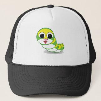 bright caterpillar worm trucker hat