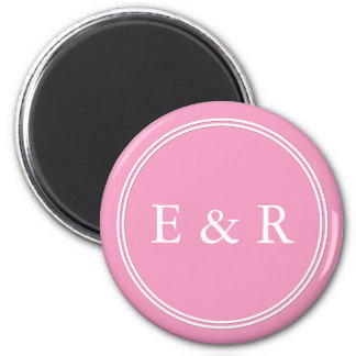 Bright Chalky Pastel Magenta Wedding Party Gifts 6 Cm Round Magnet
