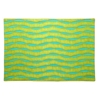 Bright Chartreuse and Teal Design Placemat