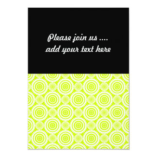 Bright Chartreuse Day Glow Geometric Pattern 13 Cm X 18 Cm Invitation Card