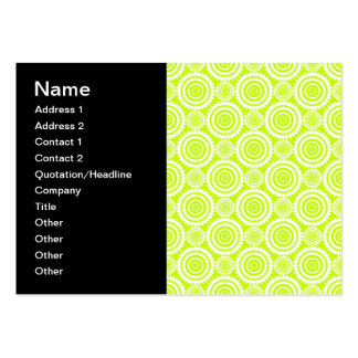 Bright Chartreuse Day Glow Geometric Pattern Pack Of Chubby Business Cards