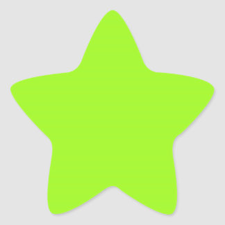 Bright Chartreuse Green Star Sticker