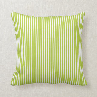 Bright Chartreuse Green Striped Decorative Pillows