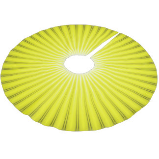 Bright Chartreuse Yellow Christmas Tree Skirt
