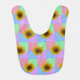 Bright Checkered Sunflower Bib