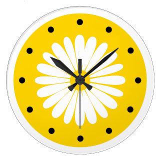 Bright Cheerful Floral Kitchen Clock