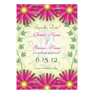 Bright Cheerful Flowers Save the Date Cards Pack Of Chubby Business Cards