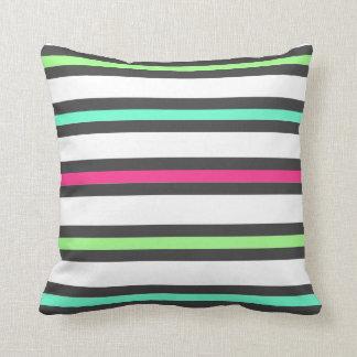 Bright Cheery Striped Custom Throw Pillow