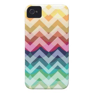 Bright Chevron Scallop Summer Pattern iPhone Case