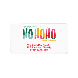 Bright Christmas Address Labels