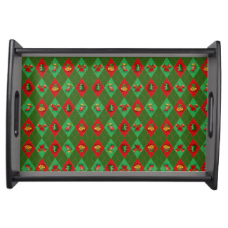 Bright Christmas colors Serving Tray