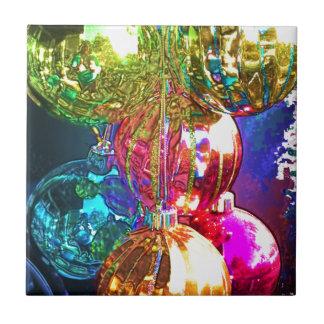 Bright Christmas Ornaments Ceramic Tile