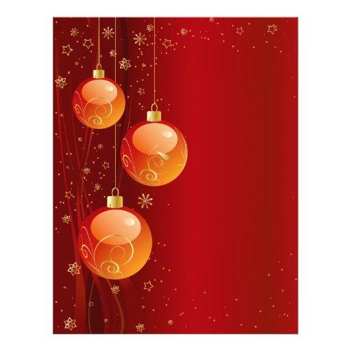 Bright Christmas ornaments Custom Flyer