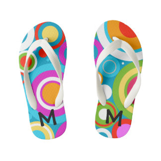 Bright Circles Flip Flops, Kids and Toddlers Kid's Thongs