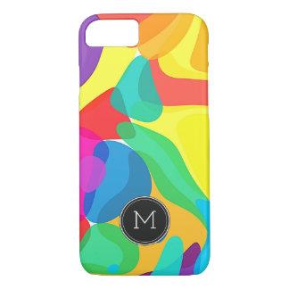 Bright Circus Colors Monogram Pattern iPhone 8/7 Case