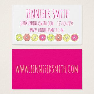 Bright Citrus Fruit Lemon Lime Chef Business Cards