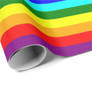 Bright Classic Rainbow Wrapping Paper
