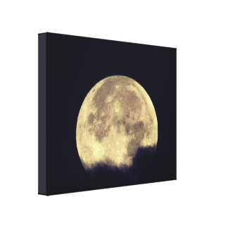 Bright Cloudy Moon Canvas Print