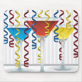 Bright cocktail and ribbon mouse pad