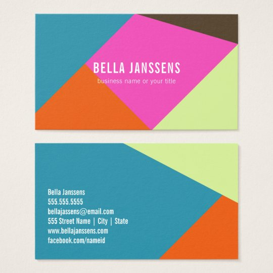 BRIGHT COLOR BLOCKS | BUSINESS CARDS