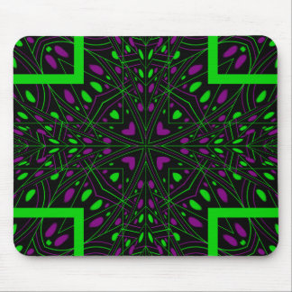 Bright color kaleidoscope mouse pad
