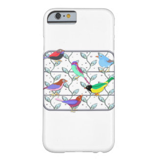 Bright Colored Birds on a Trellis Barely There iPhone 6 Case