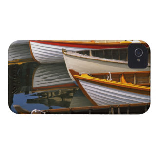 Bright colored boats at the Wooden Boat Center Blackberry Case