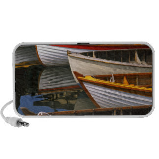 Bright colored boats at the Wooden Boat Center Mp3 Speaker