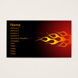 bright colored racing flames business card