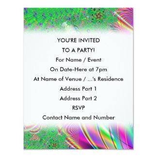 Bright Colorful Abstract Design. 4.25x5.5 Paper Invitation Card