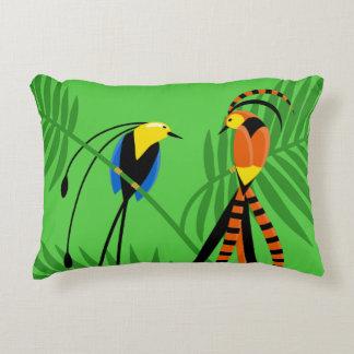 Bright Colorful Birds of Paradise Decorative Cushion