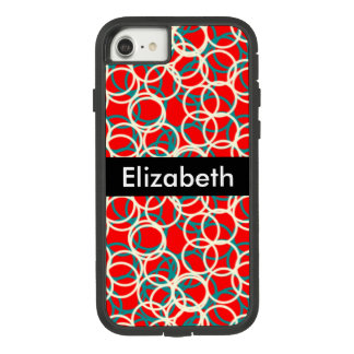 Bright Colorful Circle Background with Name Case-Mate Tough Extreme iPhone 8/7 Case
