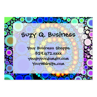 Bright Colorful Concentric Circles Swirl Pop Art Business Card