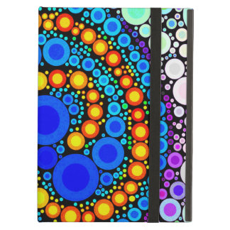 Bright Colorful Concentric Circles Swirl Pop Art Cover For iPad Air