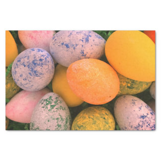 Bright Colorful Cute Easter Eggs Tissue Paper