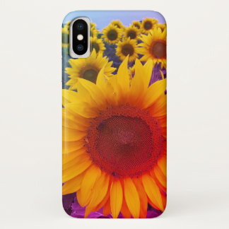 Bright Colorful Floral Sunflowers iPhone Case