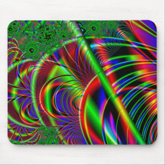 Bright Colorful Fractal Art Design. Mouse Pad