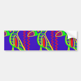 Bright Colorful Fun Toucan Tropical Bird Pattern Bumper Sticker
