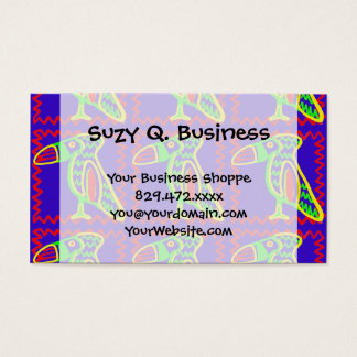 Bright Colorful Fun Toucan Tropical Bird Pattern Business Card