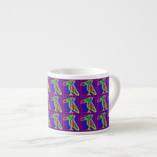 Bright Colorful Fun Toucan Tropical Bird Pattern 6 Oz Ceramic Espresso Cup