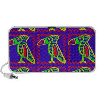 Bright Colorful Fun Toucan Tropical Bird Pattern Laptop Speakers
