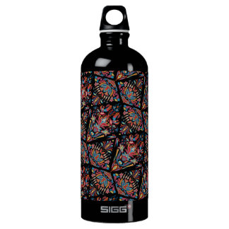 Bright colorful geometric floral tradition pattern SIGG traveller 1.0L water bottle