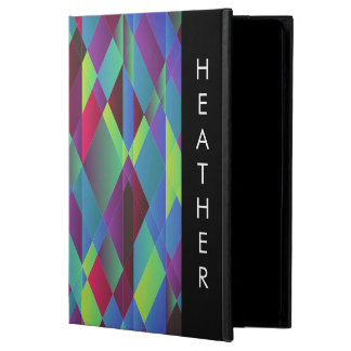 Bright Colorful Hue Geometric Background Pattern iPad Air Covers