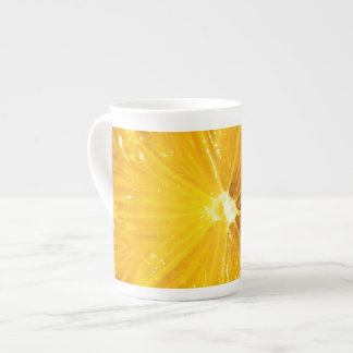 Bright Colorful Lemon Close Up Bone China Mug