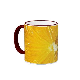 Bright Colorful Lemon Close Up Ringer Mug