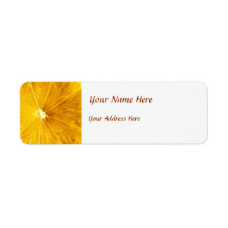 Bright Colorful Lemon Close Up Return Address Label